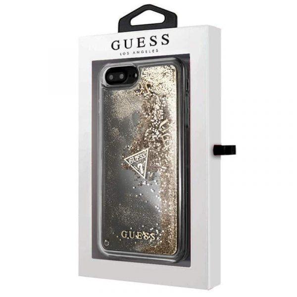 carcasa iphone 6 plus licencia guess liquid dorado2