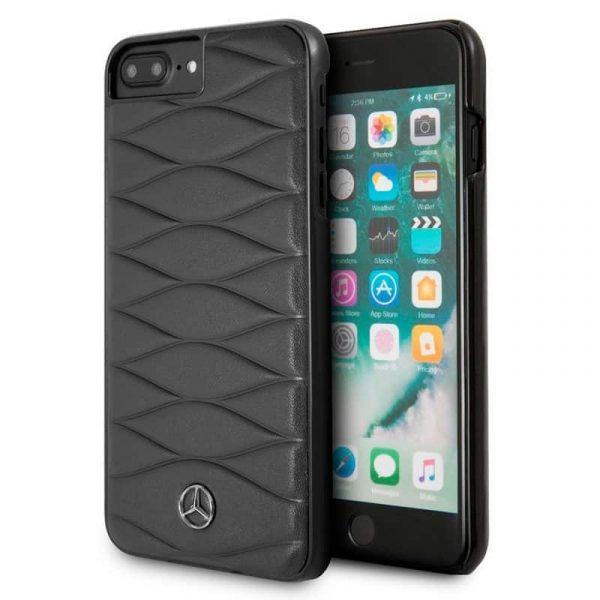 carcasa iphone 6 plus licencia mercedes benz piel negro1