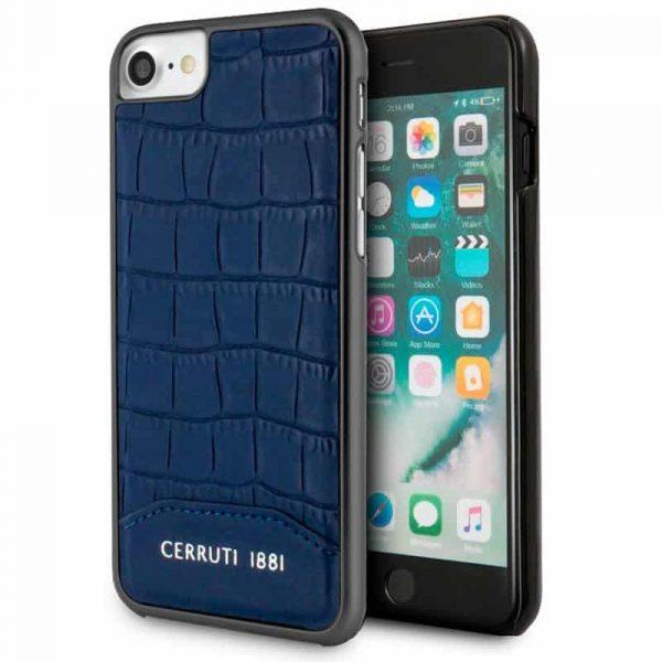 Carcasa iPhone 7 / iPhone 8 / SE 2020 Licencia Cerruti Piel Azul 1