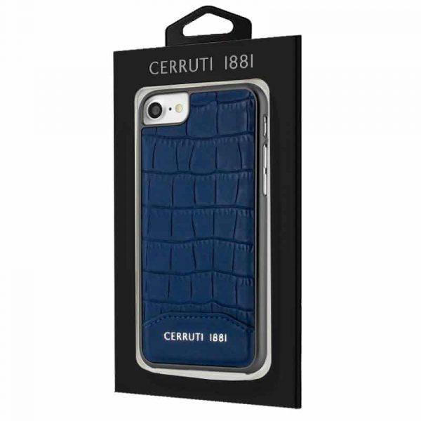 Carcasa iPhone 7 / iPhone 8 / SE 2020 Licencia Cerruti Piel Azul 2