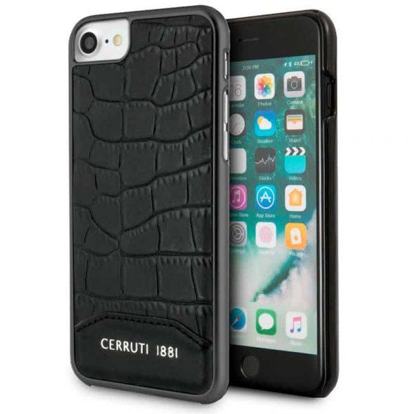 Carcasa iPhone 7 / iPhone 8 / SE 2020 Cerruti Piel Negro 1