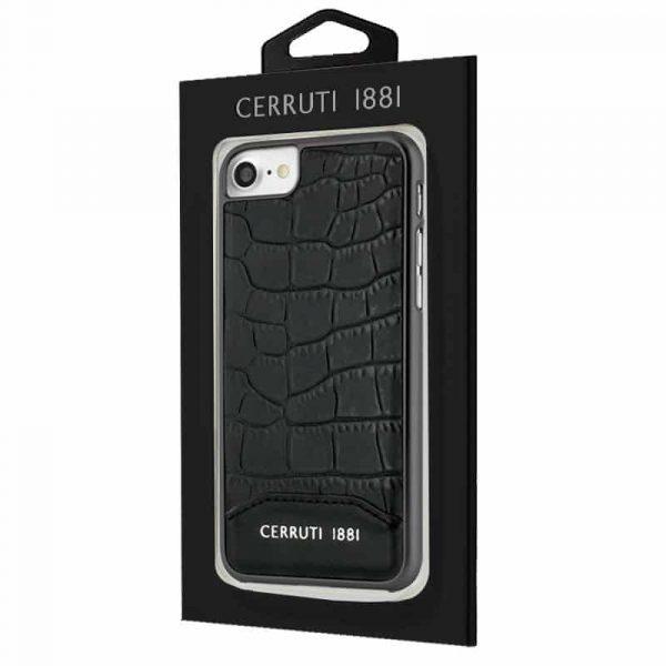 Carcasa iPhone 7 / iPhone 8 / SE 2020 Cerruti Piel Negro 2
