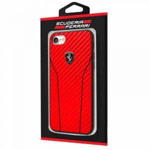 carcasa iphone 7 8 licencia ferrari hard rojo2