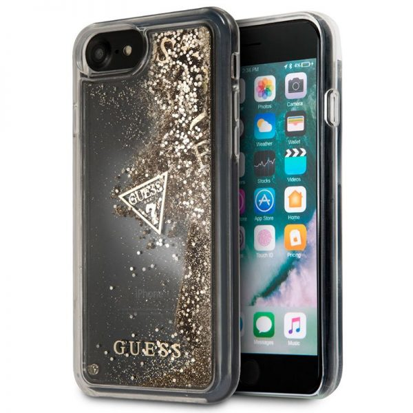 Carcasa iPhone 7 / iPhone 8 / SE 2020 Licencia Guess Liquid Dorado 1