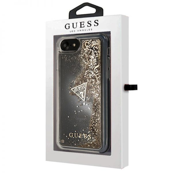 Carcasa iPhone 7 / iPhone 8 / SE 2020 Licencia Guess Liquid Dorado 2