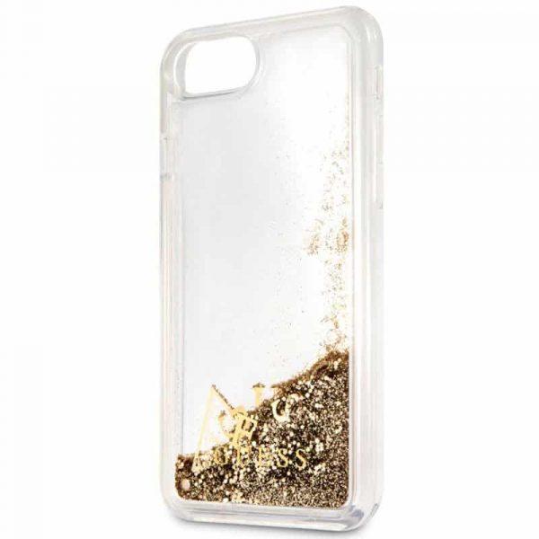 Carcasa iPhone 7 / iPhone 8 / SE 2020 Licencia Guess Liquid Dorado 3
