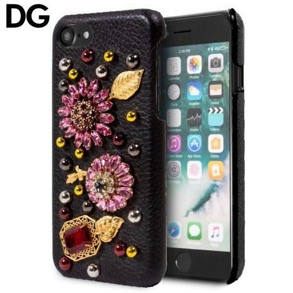 Carcasa iPhone 7 / iPhone 8 / SE 2020 Dolce Gabbana Perlas Flores 1