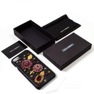 Carcasa iPhone 7 / iPhone 8 / SE 2020 Dolce Gabbana Perlas Flores 6