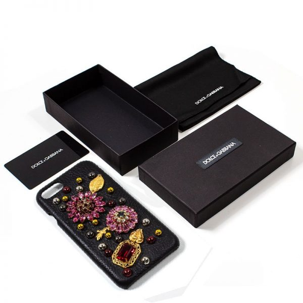 Carcasa iPhone 7 / iPhone 8 / SE 2020 Dolce Gabbana Perlas Flores 3