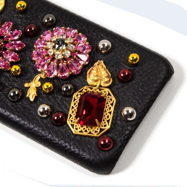 Carcasa iPhone 7 / iPhone 8 / SE 2020 Dolce Gabbana Perlas Flores 2