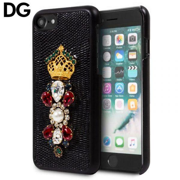 Carcasa iPhone 7 / iPhone 8 / SE 2020 Dolce Gabbana Perlas Negro 1