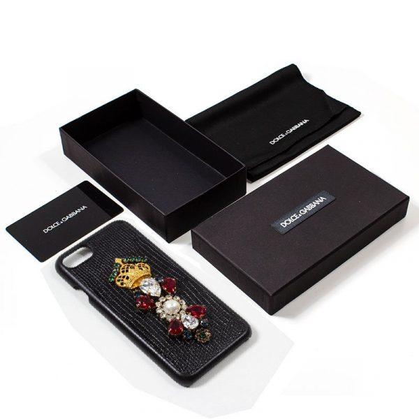 Carcasa iPhone 7 / iPhone 8 / SE 2020 Dolce Gabbana Perlas Negro 4
