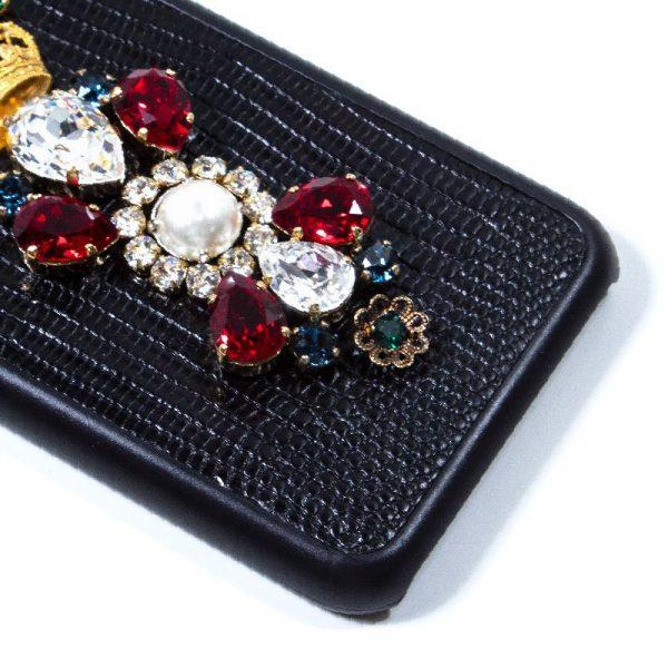 Carcasa iPhone 7 / iPhone 8 / SE 2020 Dolce Gabbana Perlas Negro 3
