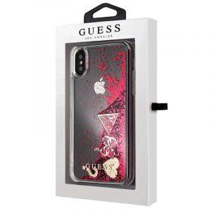 Carcasa iPhone X / iPhone XS Licencia Guess Liquid Rojo 4