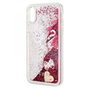 Carcasa iPhone X / iPhone XS Licencia Guess Liquid Rojo 5