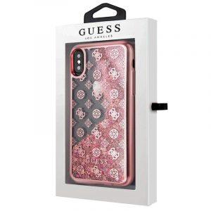 Carcasa iPhone X / iPhone XS Licencia Guess Liquid Rosa 4
