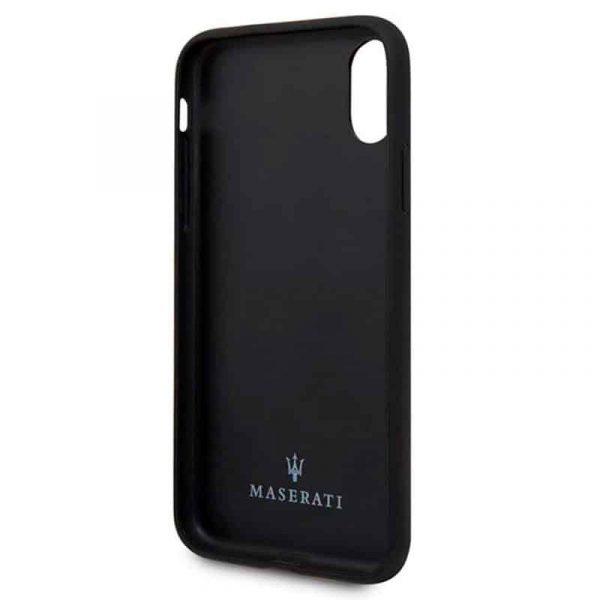Carcasa iPhone X / iPhone XS Licencia Maserati Piel Negro 3