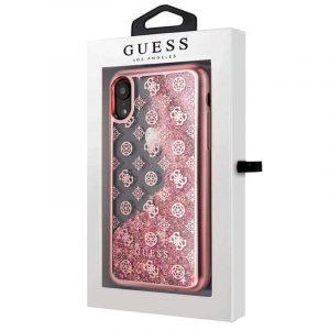Carcasa iPhone XR Licencia Guess Liquid Rosa 4