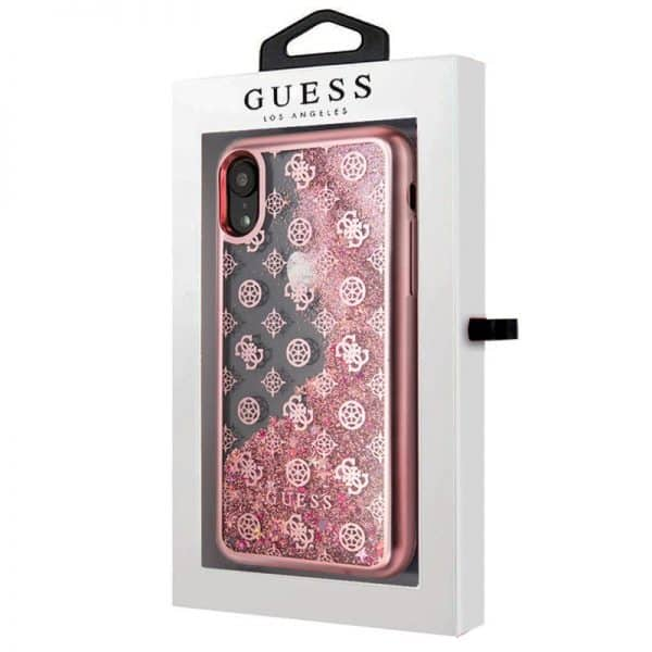 Carcasa iPhone XR Licencia Guess Liquid Rosa 2