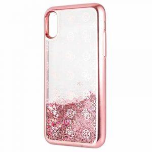 Carcasa iPhone XR Licencia Guess Liquid Rosa 5
