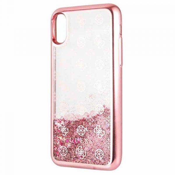 carcasa iphone xr licencia guess liquid rosa3