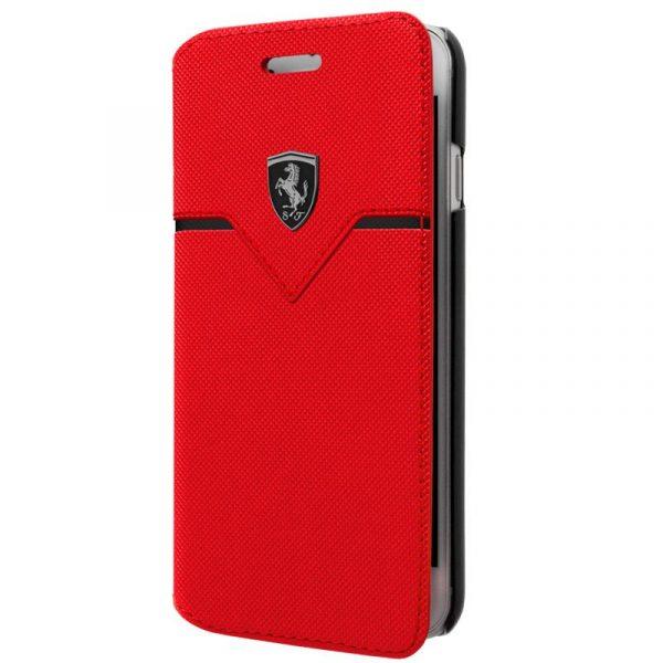 funda flip cover iphone 6 6s licencia ferrari rojo1