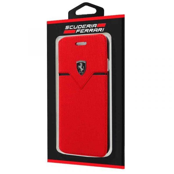 funda flip cover iphone 6 6s licencia ferrari rojo2