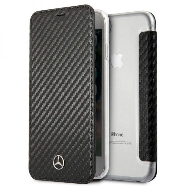 Funda Con Tapa iPhone 7 / iPhone 8 / SE 2020 Licencia Mercedes-Benz Negro 1