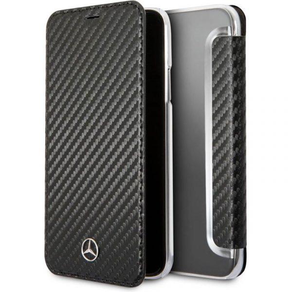 funda flip cover iphone x iphone xs licencia mercedes benz negro1