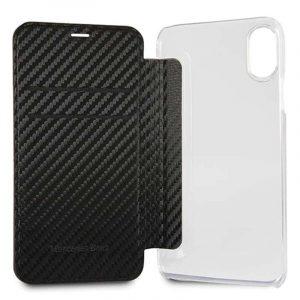 funda flip cover iphone x iphone xs licencia mercedes benz negro3