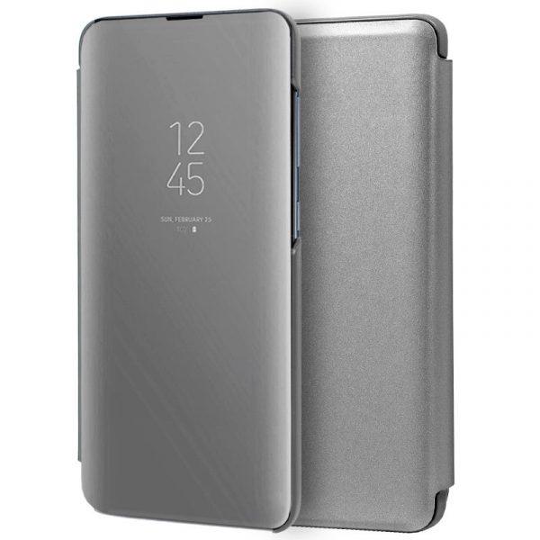 Funda Con Tapa Samsung Galaxy A71 Clear View Plata 1