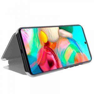 Funda Con Tapa Samsung Galaxy A71 Clear View Plata 4