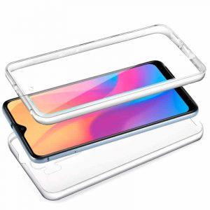 funda silicona 3d xiaomi redmi 8 8a transparente frontal trasera2