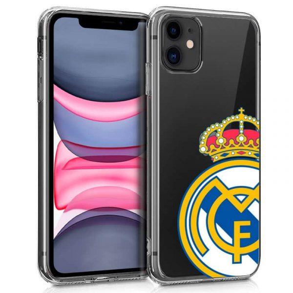 carcasa iphone 11 licencia futbol real madrid transparente 1