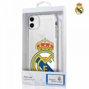 carcasa iphone 11 licencia futbol real madrid transparente 2