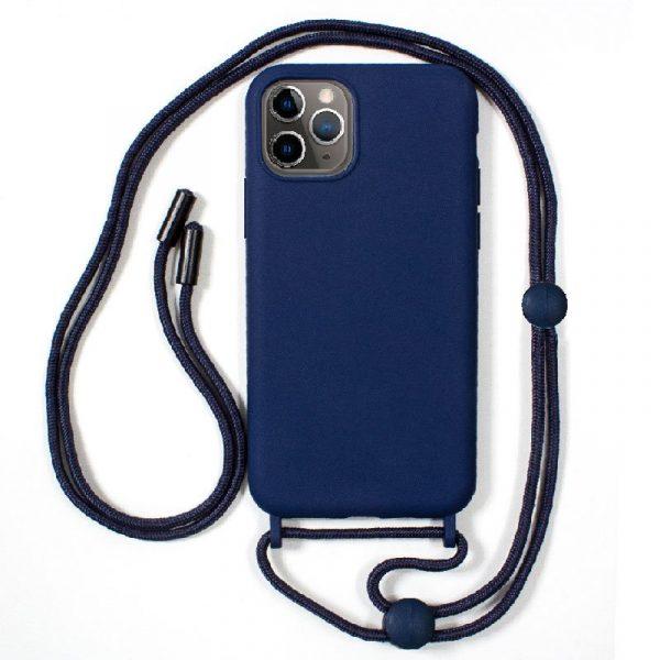 carcasa iphone 11 pro cordon liso azul 1