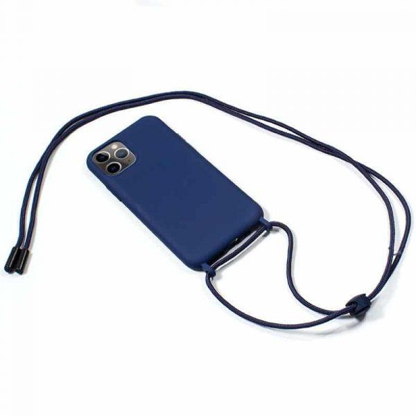 carcasa iphone 11 pro cordon liso azul 2