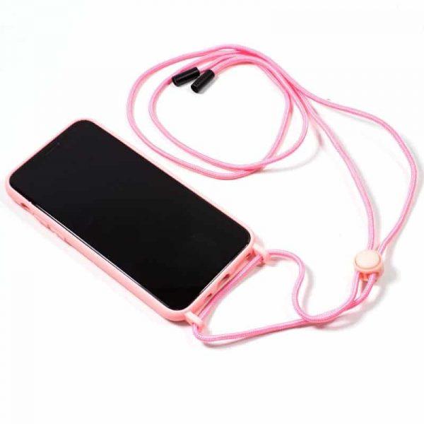 carcasa iphone 11 pro cordon liso rosa 2