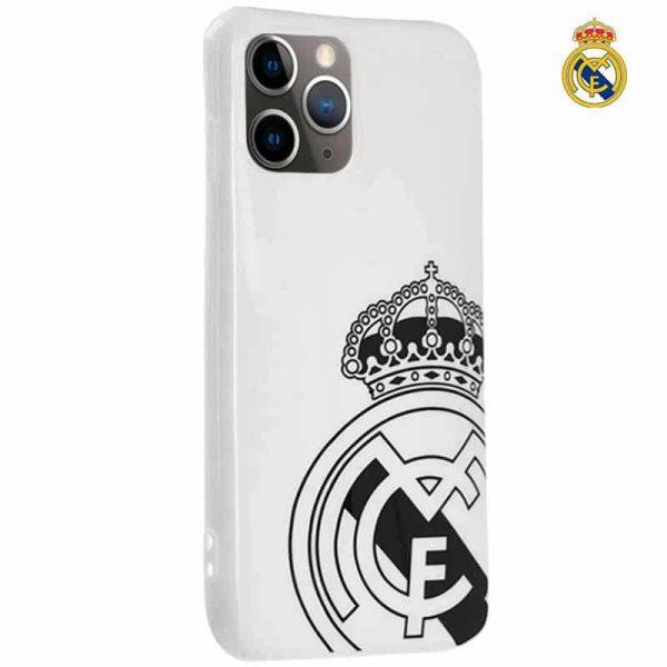 carcasa iphone 11 pro licencia futbol real madrid blanca escudo 1