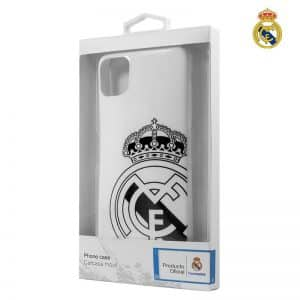 carcasa iphone 11 pro licencia futbol real madrid blanca escudo 2
