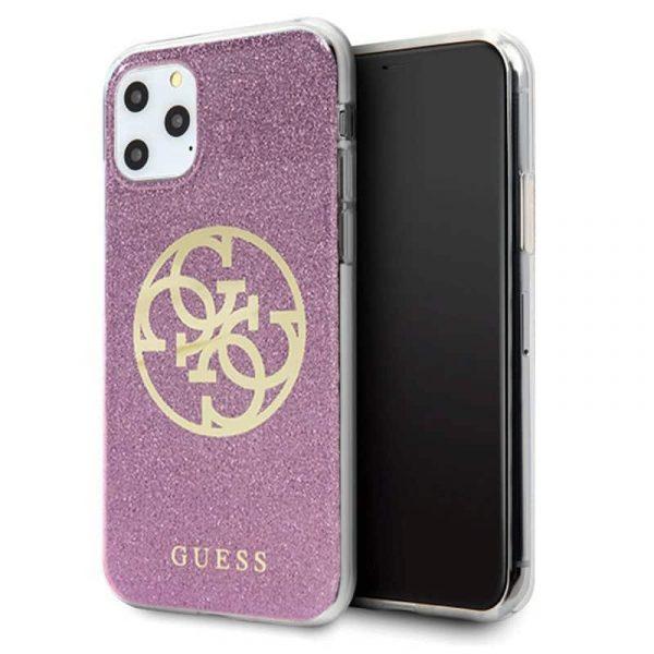 Carcasa iPhone 11 Pro Guess Glitter Morado 1