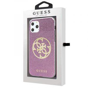 Carcasa iPhone 11 Pro Guess Glitter Morado 4