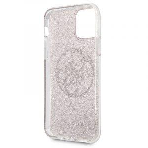 Carcasa iPhone 11 Pro Guess Glitter Morado 5
