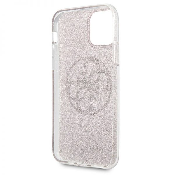 Carcasa iPhone 11 Pro Guess Glitter Morado 3