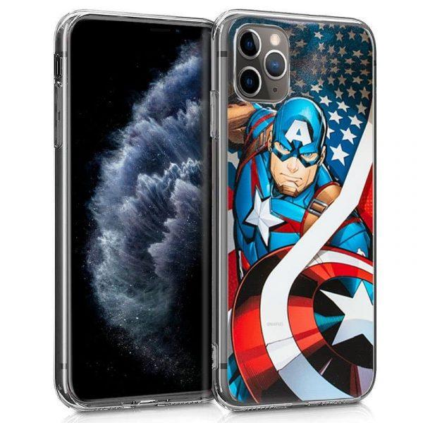carcasa iphone 11 pro marvel capitan america 1