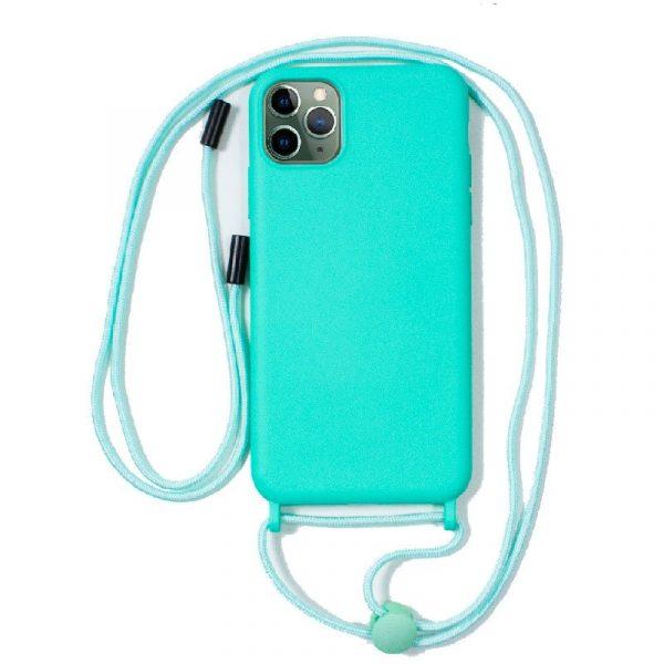 carcasa iphone 11 pro max cordon liso menta 1
