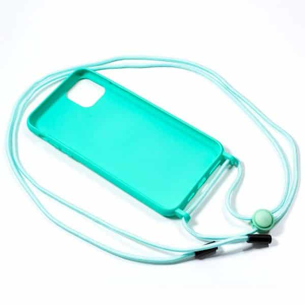 carcasa iphone 11 pro max cordon liso menta 2
