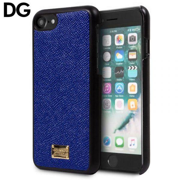carcasa iphone 7 iphone 8 licencia dolce and gabbana liso azul 1