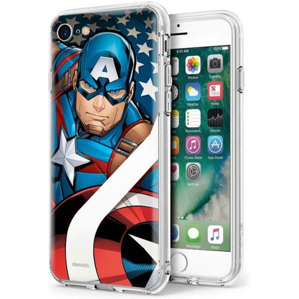 carcasa iphone 7 iphone 8 licencia marvel capitan america 1