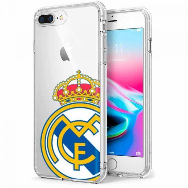 carcasa iphone 7 plus iphone 8 plus licencia futbol real madrid transparente 1
